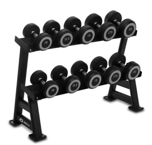 DumbbellRack Maxi Set Rubber 10-20 kg